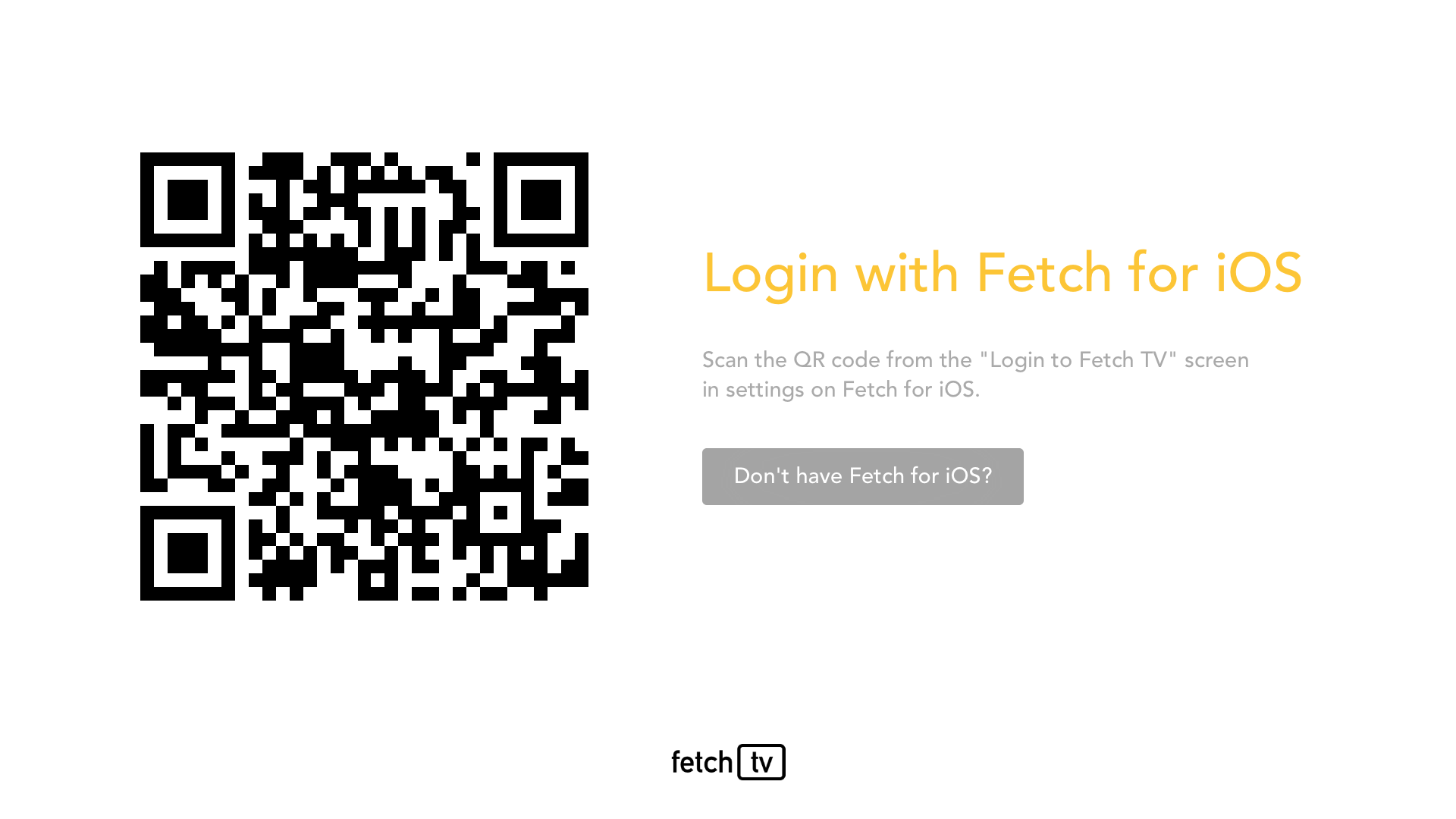 Fetch TV Login Flow