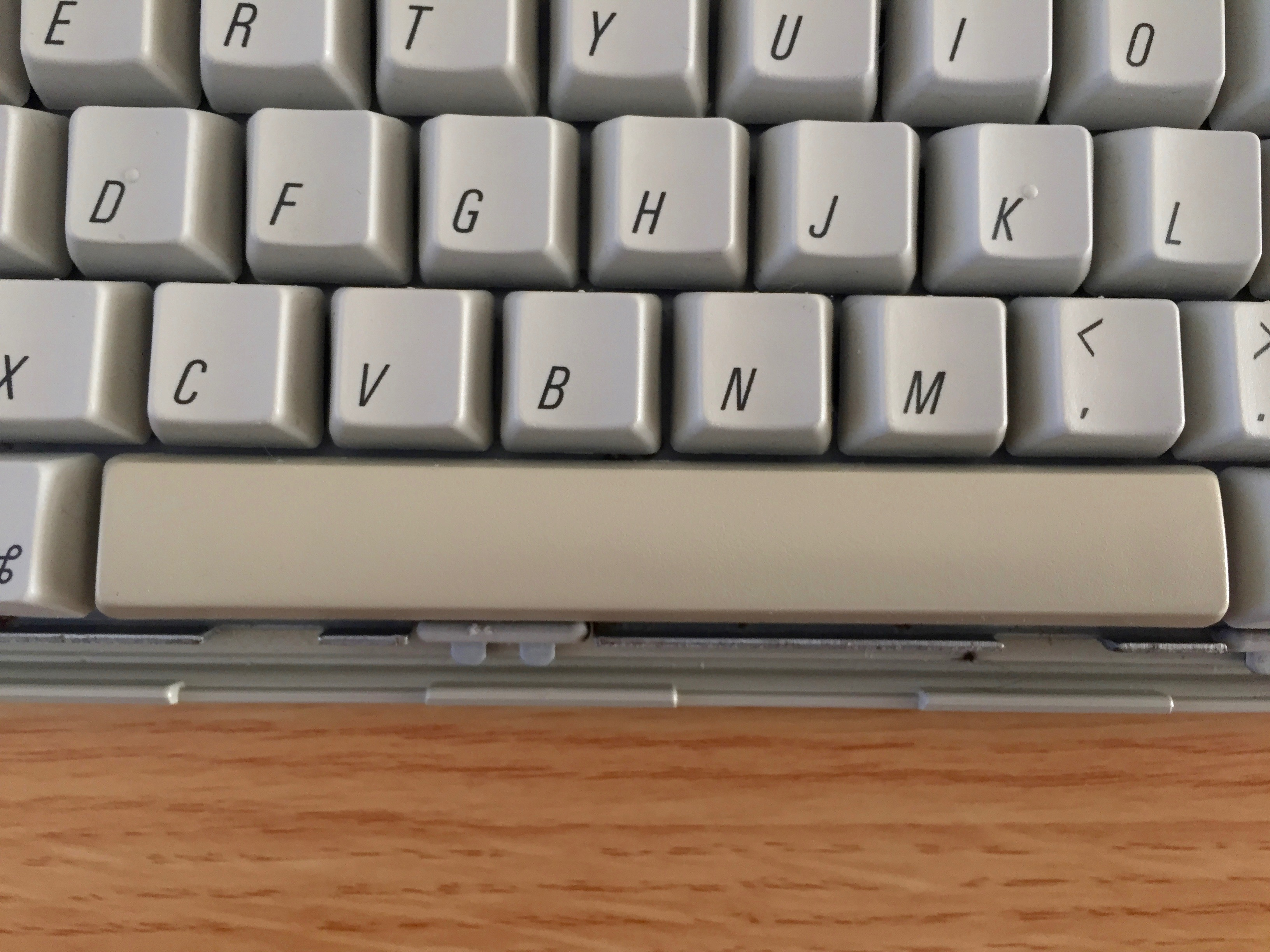 Yellow space bar