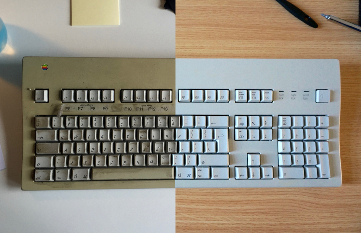 Restoring an Apple Extended Keyboard II