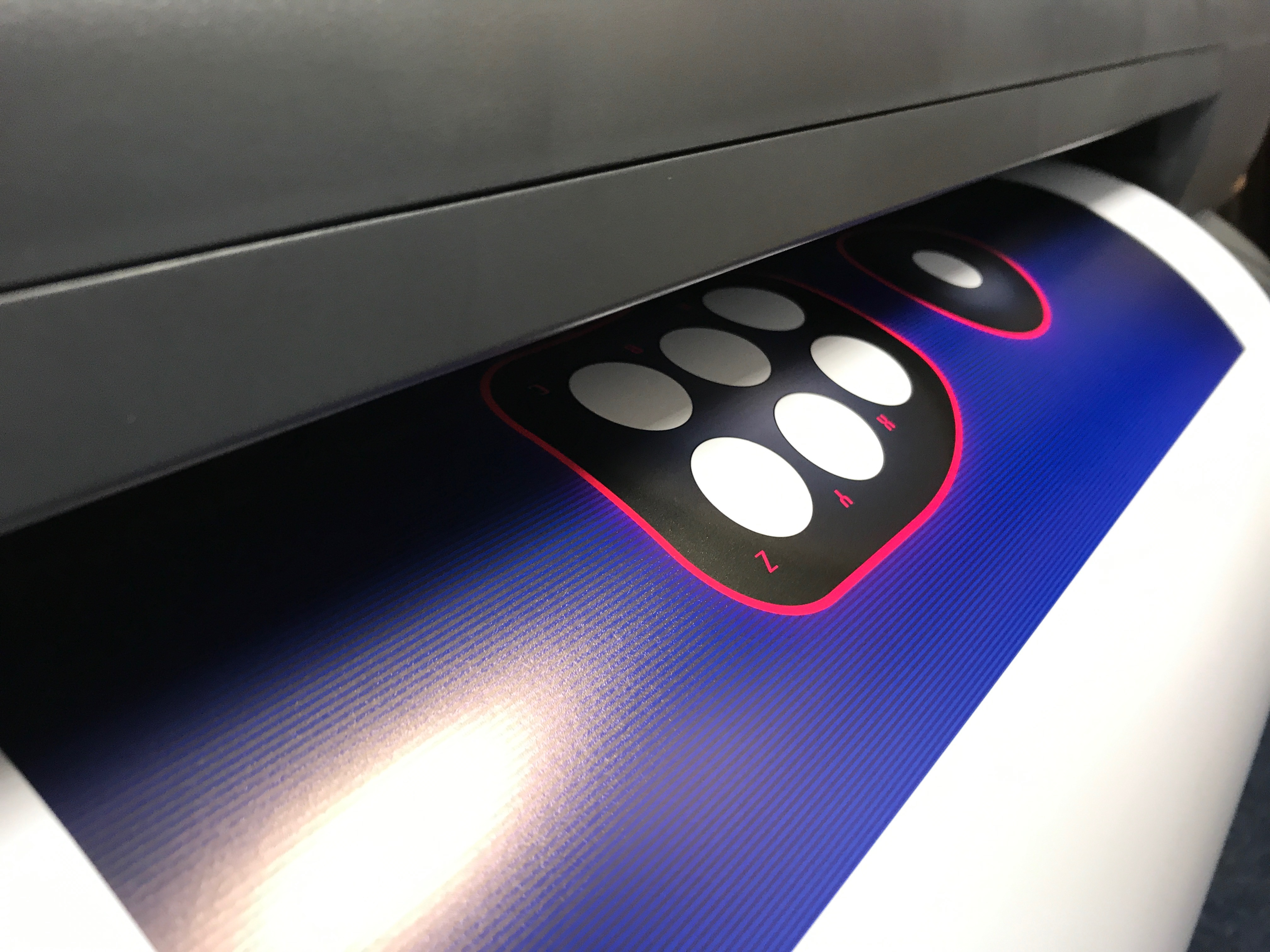 Printing the button surround